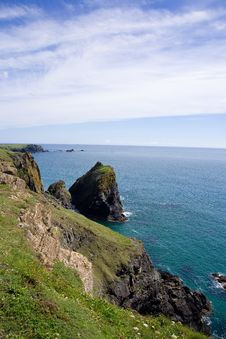 Kynance Cove Cliffs Royalty Free Stock Image