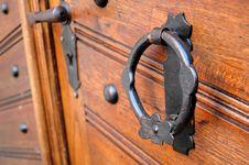 Part Of Old Door Stock Images