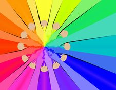 Color Wheel With Crayons Royalty Free Stock Photo