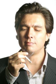 Free Smoking Bussinesman Stock Photo - 3095670