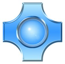 Free Blue Button Stock Photo - 3096670