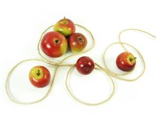 Red Apples And String Stock Photos