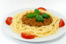 Free Spaghetti With Sauce Bolognese Stock Images - 3097664