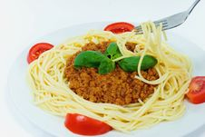 Free Spaghetti With Sauce Bolognese Royalty Free Stock Photo - 3097675