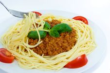 Free Spaghetti With Sauce Bolognese Royalty Free Stock Image - 3097676