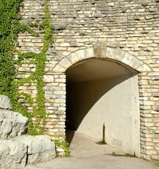 Free Stone Entrance To Tunnel Walk Royalty Free Stock Photos - 3097818
