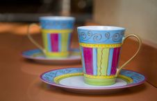Free Colorful Tea Cups Stock Photo - 3097870