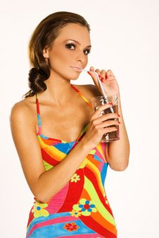 Free Girl With A Drink Stock Photos - 3097953