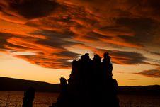 Free Mono Lake Sunset Rock Formatio Royalty Free Stock Images - 3098349