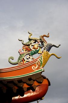 Free Rooftop Of Chinese Temple Royalty Free Stock Photography - 3099387