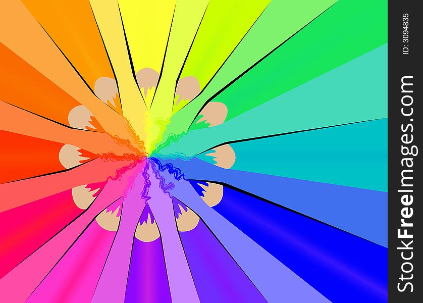 color wheel with crayons free stock images photos 3094835