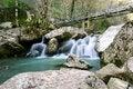 Free Bridge Over Waterfall Royalty Free Stock Photo - 30902095