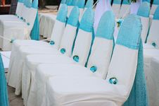 Closeup Of Wedding Chair. Stock Photography