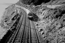 Free Railway In Mountains Monochrome Stock Images - 30900404