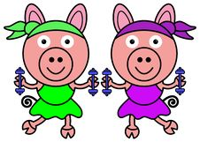 Free Pig Aerobics Royalty Free Stock Photos - 30901458