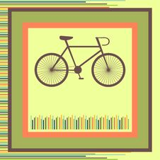 Free Bicycle. Greeting Card Stock Photography - 30905052
