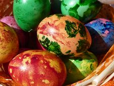 Free Painted Natural Eggs Stock Photos - 30905153