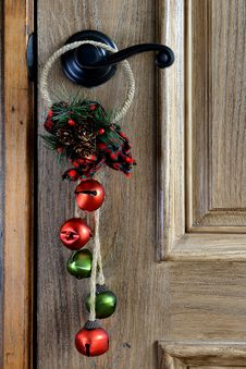 Free Christmas Ornament Hanging From The Door Stock Image - 30906711