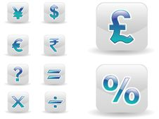 Free Currency And Calculation Icon Set Stock Photo - 30907680