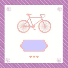 Free Greeting Card With Bike Royalty Free Stock Image - 30908906