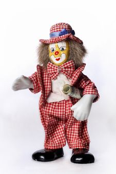 Free Toy Clown With A Dollar Royalty Free Stock Photography - 30909327