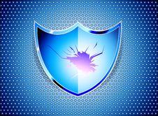 Free Blue Shield Royalty Free Stock Image - 30916546