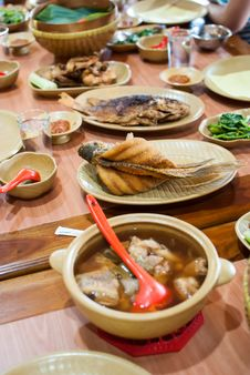Asian Dishes Royalty Free Stock Photos