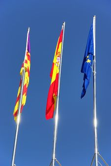 Protocolary Flags Royalty Free Stock Image