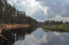 Spring River Landscape. Royalty Free Stock Image