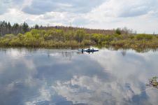 Spring River Landscape. Royalty Free Stock Images