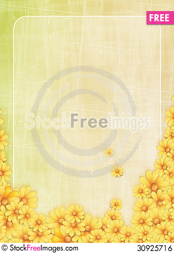 Free Floral Greeting Card Royalty Free Stock Image - 30925716