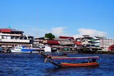Free River And Taxi Boat Stock Image - 30922561