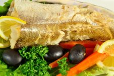 Free Fish With Vegetables And Herbs Stock Image - 30923041