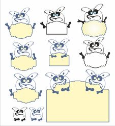 Free Children Frame With Monster Stock Images - 30924684