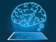 Free Cyber Brain With Technology Concept Royalty Free Stock Photography - 30925527