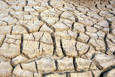 Dry And Barren Land Stock Image