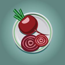 Free Beet On A Plate With Slices Stock Photo - 30926580