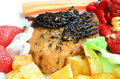 Free Pork Steak With Morels, Served And Decorated Royalty Free Stock Photography - 30931377