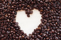 Free Coffee Heart Background Stock Photo - 30939560