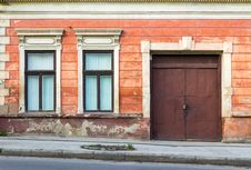 Free Facade Of An Old Building With Two Windows And  Door Stock Photos - 30935033