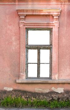 Free Old Window Frame On The Wall Stock Images - 30935094
