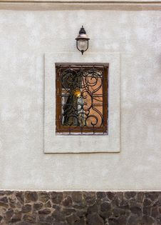 Free Window With Protection And Lantern Royalty Free Stock Images - 30935139