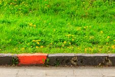Free Border Marking Infront Of Green Grass Stock Photo - 30936640