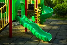 Free Playing Complex For Children In Public Park Royalty Free Stock Image - 30938316