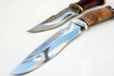 Free Hunting Knives Royalty Free Stock Photo - 30939575