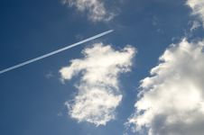Sky With Clouds. Royalty Free Stock Photo