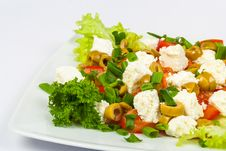 Salad With Olives And Feta Royalty Free Stock Images