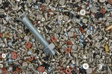 Free Bolts And Screws. Stock Photos - 30939943