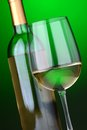 Free White Wine Glass And Bottle Stock Photography - 30946192