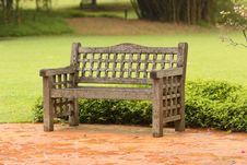 Free A Chair In Rain At Botanic Garden Stock Image - 30941521